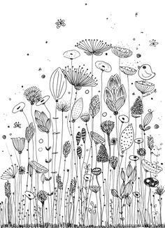 Illustration Art Drawing Doodles Zen Tangles 31 Ideas For 2019 Inspiration Art, Journal Inspiration, Journal Ideas, Flower Doodles, Doodle Flowers, Ink Doodles, Floral Doodle, Zentangle Patterns, Embroidery Patterns
