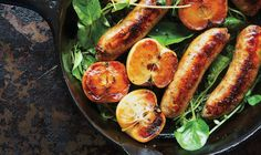 Pan-seared sausage w