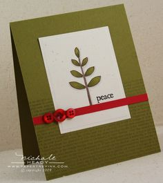 I could use the dried leaves in my flower press to make this cute little card.