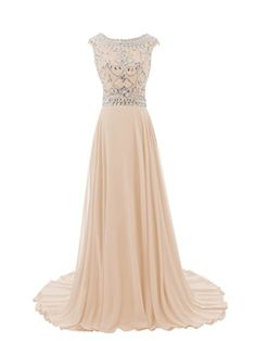 Diyouth 2015 Luxury Long Cap Sleeves Scoop Beaded Prom Dress Champagne Size 6 Diyouth http://www.amazon.com/dp/B00R2KZWNQ/ref=cm_sw_r_pi_dp_XduYvb1AFB8WJ