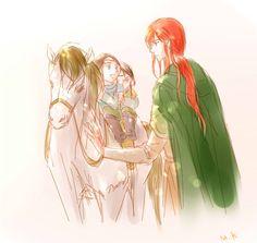 Maedhros, Elrond and Elros by MintKim on deviantART