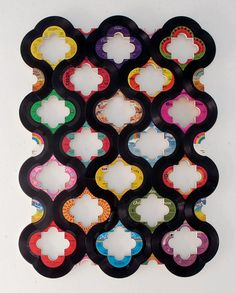 Artwork made from 45's by Susan Janvrin