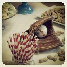 Baseball themed baby shower ....Oxford Impressions