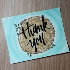 Tree Ring & Painted Thank You stamp sets by Concord & 9th