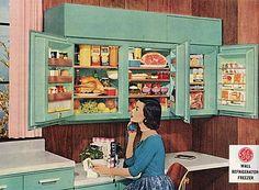 Wall refrigerator ad, 1950s