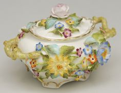 """Coalbrookdale"" sugar bowl from Coalport."