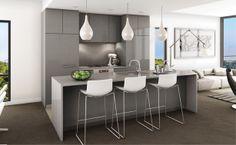 kitchen island colour - ceasarstone urban