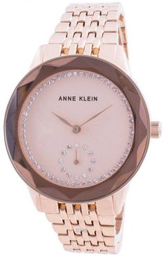 Features: Rose Gold Tone Stainless Steel Case Rose Gold Tone Stainless Steel Bracelet Quartz Movement Mineral Crystal Rose Gold Tone Dial Analog Display Pull/Push Crown Solid Case Back Deployment Clasp 30M Water Resistance Approximate Case Diameter: 37mm Approximate Case Thickness: 10mm Stainless Steel Bracelet, Stainless Steel Case, Anne Klein Watch, Crystal Rose, Gold Watch, Swarovski Crystals, Minerals, Quartz, Rose Gold
