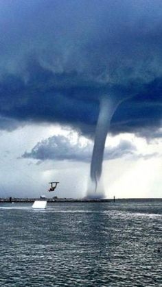 waterspout wake boarder, Grand Isle, LA