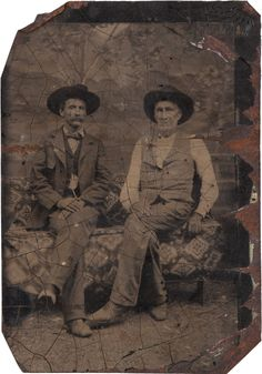 """[Texas Rangers]. William """"Bigfoot"""" Wallace and Andrew Jackson Sowell"""