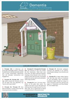 Download Dementia Design Illustrations from Dementia Enabling Environment Project. Developing an enabling environment for a person living with dementia can make a significant difference to independence, quality of life and wellbeing. Great Site