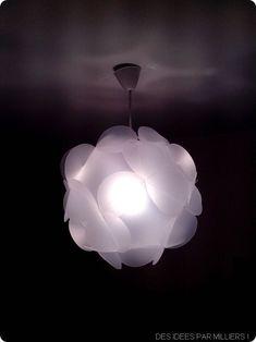 Suspension Lampe : à faire soi-même avec des feuilles de pvc, patron et tuto inside