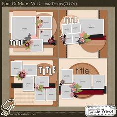 Four Or More 12x12 Temps (CU Ok) Vol. 2 :: Templates :: SCRAPBOOK-BYTES