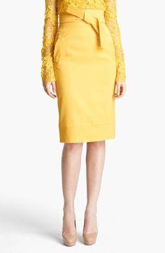 Oscar de la Renta High Waist Tie Front Skirt available at #Nordstrom