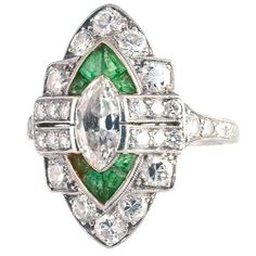 The fabulous Art Deco diamonds and emeralds will never stop.