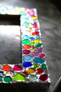 Colorful Embossed Foil Picture Frames (The Crafty Crow)