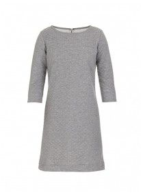 Quilted jersey shift dress Grey