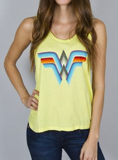 Junk Food Clothing - Wonder Woman Cropped Tank - New Arrivals - Womens