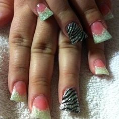 Instagram photo of flared acrylic nails by Renee David-Laudenslayer @ Sassy Hair N' Nails Salon