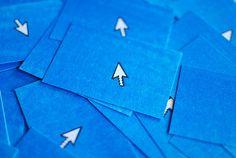 2 colour Risograph business cards for web designer/developer Jenny Kapichen.