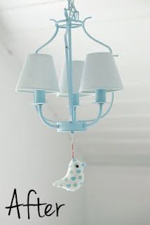 Ikea hacked small chandelier for baby