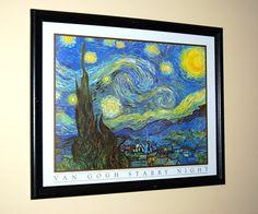 Framed Van Gogh Starry Night Print in Lewis' Garage Sale in Fayetteville , GA for $35.00.