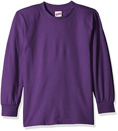 Soffe Big Boys Yth Ls Tee 100 Ctn New Purple XLG * Details can be found by clicking on the image.Note:It is affiliate link to Amazon.