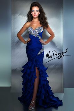 MacDuggal - Electric Blue Gown