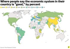 Where people say the economic system in their country is good. Percent.