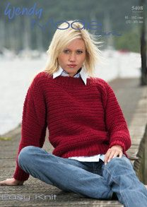 Easy Knit Sweater in Wendy Mode Chunky