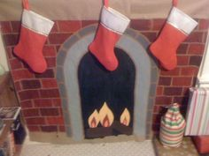 For those without a fireplace for santa, make a paper one! This ...