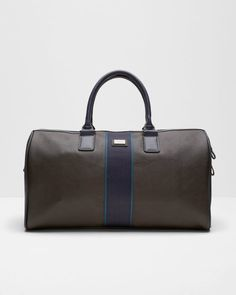 Striped webbing holdall - Chocolate | Bags | Ted Baker UK