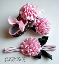 Baby Girl shoes and headband setBaby by TheBabyBellaBoutique, $21.00
