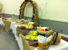 Food Table for wedding reception