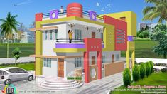 1600 sq-ft colorful North Indian home