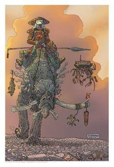 T he Sakai Project - Artists Celebrate Thirty Years of Usagi Yojimbo Usagi Yojimbo, Vintage Robots, Story People, Western Comics, Fantasy Illustration, Dope Art, Environmental Art, Retro Futurism, Manga Drawing