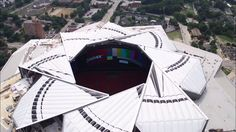 The new Atlanta Falcons stadium has an aperture roof