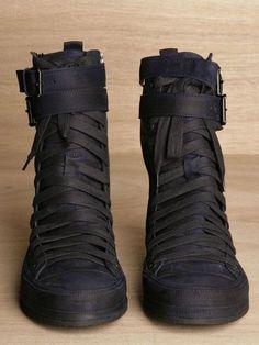 Ann Demeulemeester Mens Scamasciato Boots in Blue for Men (ink) Lyst - Men's Boots - Ideas of Men's Boots - Ann Demeulemeester Mens Scamasciato Boots in Blue for Men (ink) Lyst inspirationen herren Sneakers Mode, Sneakers Fashion, Men's Shoes, Shoe Boots, Man Boots, Leder Boots, Apocalyptic Fashion, Mens Boots Fashion, Fashion Women