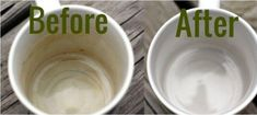 Let them soak with warm water in your mugs to clean off coffee or tea stains. The eggshells will absorb the stains overnight. Household Cleaning Tips, Cleaning Hacks, Coffee Stain Removal, Tea Stains, Wine Stains, Coffee Staining, Tips & Tricks, Cleaners Homemade, Hygiene