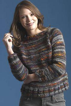 Blusa de tricô mesclada em ponto meia. Simples, bonita e gostosa.