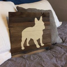 French Bulldog Silhouette Reclaimed Weathered by theurbanottershop