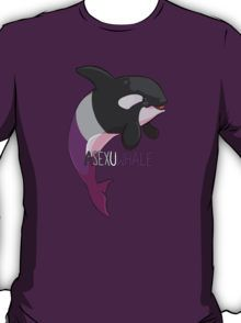 Asexuwhale - with text T-Shirt