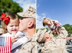 Sweet Marine Corps Homecoming Photography » Rally Point