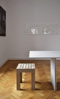 #Sofia - #sgabello in   #legno #massello di #teak #stool #comodino #bedsidetable   #wood #living#furniture #mg12