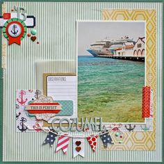 #papercraft #scrapbook #layout  Happenings on this side river: Mixin' it up...