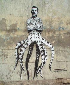 Freddie Mercury - pochoir street art