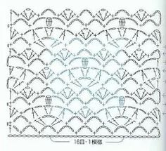 Fotografie: Crochet Stitches Chart, Crochet Motifs, Crochet Patterns, Crochet Ideas, Blanket Stitch, Couture, Charts, Quilts, Knitting