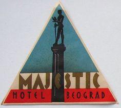 Majestic Hotel, Belgrado Vintage Hotels, Luggage Labels, Original Image, Travel Posters, Design Inspiration, Lettering, Stickers, Drawing Letters, Decals