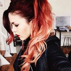 Luanna Perez stunning hair! Red ombre hair
