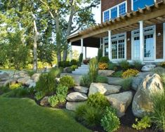 Landscaping Ideas for A Sloped Front Yard . Landscaping Ideas for A Sloped Front Yard . 5 Steps to Create Landscape Mounds Sloped Front Yard, Modern Front Yard, Small Front Yard Landscaping, Front Yard Design, Landscaping With Rocks, Modern Landscaping, Backyard Landscaping, Front Yards, Backyard Ideas